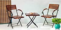 A must have for every home, the folding chair table; Table is made using sheesham wood. Easy to move around, a great space saver this simple design goes well with all kinds of decor. This Set is a perfect piece of patio furniture or in a Balcony. For...