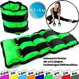 C.P.Sports Gewichtsmanschetten Paar für Hand- und Fußgelenke, 2X 0,5kg - 2X 1kg - 2X 1,5kg - 2X 2kg - 2X 2,5kg - 2X 3kg-2x 4kg-2x 5kg-2x 6kg -...