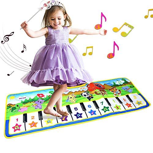 baile piano para bebé bebé Alfombrillas musicales para niños letease juguetes para niños regalo manta de juguete para jugar al juego animal educación temprana música