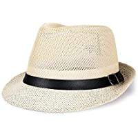 Easy Go Shopping Sombrero Hombres de Mediana Edad Verano Lino Visera Sombrero  Sombrero de Copa Sombrero 13af6aebc2f