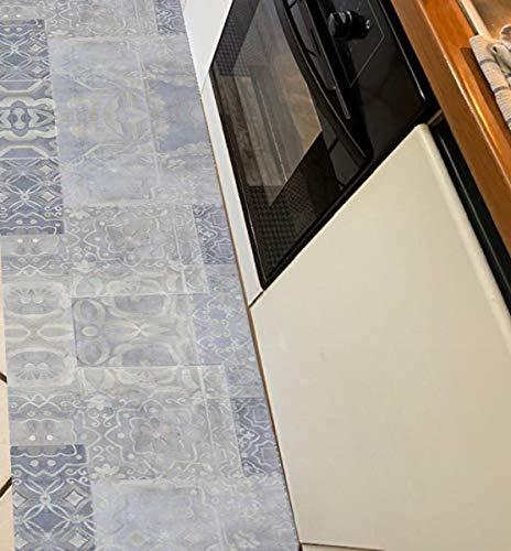 M.service srl tappeto/passatoia in pvc al metro (h. 50cm x 100cm). la quantità ordinata sarà fornita in un unico taglio! (fantasia piastrella)