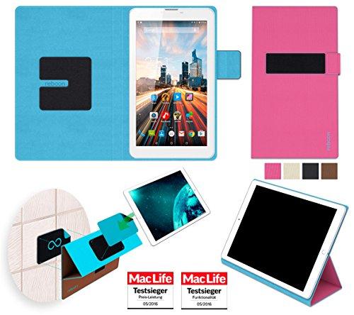 reboon Archos 70 Helium 4G Hülle Tasche Cover Case Bumper | Pink | Testsieger