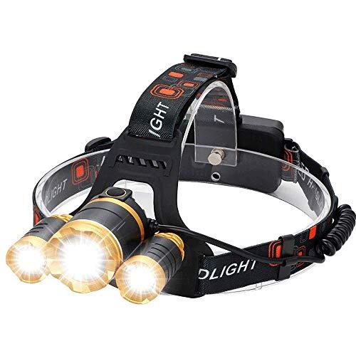 OPmeA Lecture de 4 phares rotatifs en Mode randonnée pédestre Camping 5000 phares Rechargeables LED