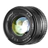 Neewer 35mm f/1,2 Obiettivo Grandangolare Prime Apertura Grande a Lunghezza Focale Fissa Manuale Compatibile con Olympus Panasonic Mirrorless con Attacco Micro 4/3 Munito di Sensore APS-C Live MOS
