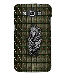 PrintDhaba Fastened Girl D-5646 Back Case Cover for SAMSUNG GALAXY WIN i8552 (Multi-Coloured)