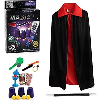 Harxin Juego de Magia,Magic Show,Trucos Magia Set Infantil Magos Caja Creativo Aprendizaje para Niños de Harxin