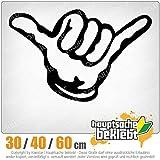hauptsachebeklebt KIWISTAR - Hang Loose - Alles locker - Shaka Heckscheibe in 15 Farben Aufkleber Sticker
