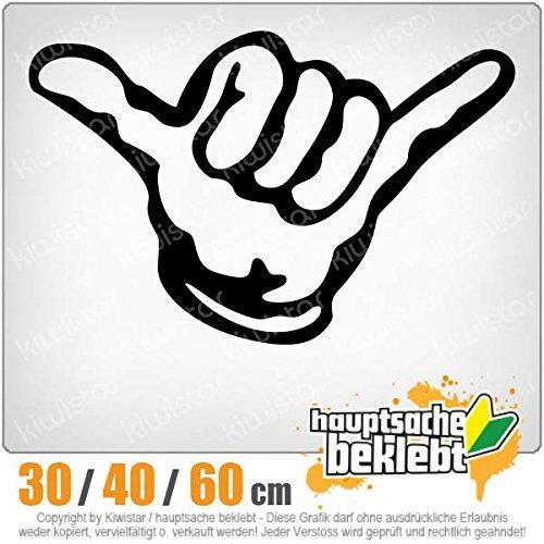 Hängen Locker (KIWISTAR - Hang loose - Alles locker - Shaka Heckscheibe in 15 FARBEN Aufkleber Sticker)
