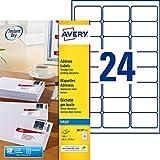 Avery J8159 Lot de 360 Etiquettes autocollantes impression jet d'encre 63,5 x 33,9 mm Blanc