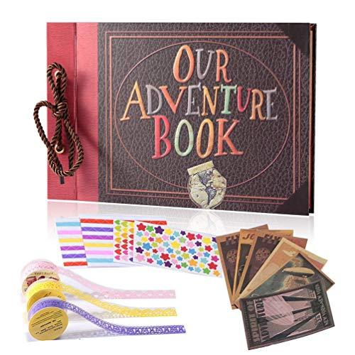 YIHAO Adventure Book Album de Fotos,Libro de Aventura con Accesoro Maravilloso, Our Adventure Scrapbooking...