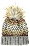 s.Oliver Damen 39.910.92.3395 Strickmütze, Grau (Grey/Black Knit 94x1), One Size (Herstellergröße: 1)