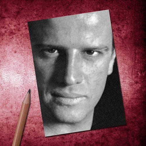 H720 (4 SEASONS) CHRISTOPHER LAMBERT - ACEO Sketch Card (Signed by the Artist) #js002