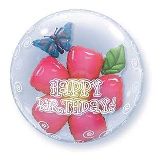 Qualatex 68805 Globo de látex de Doble Burbuja para cumpleaños, 24 Pulgadas