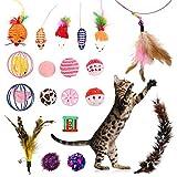 Lovestoryeu Lot DE 20Jouets pour Chat pour l'intérieur Chats Cat Herbe à Chat Jouets Balles de Cat Cat Plumes Baguette Interactive Ensemble de Jouet pour Chat d'intérieur pour Kitty et Chats