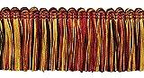 DecoPro 5 Yard Vorteilspackung Rot Schwarz Gold 51 mm Bürste Fransen Borte Trim Scarab