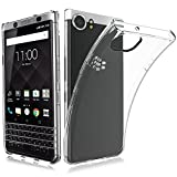 BlackBerry KEYone Hülle, MaxKu Ultra Slim Schutzhülle Soft Silikon TPU Bumper Case Cover Handyhülle für BlackBerry KEYone, Transparent