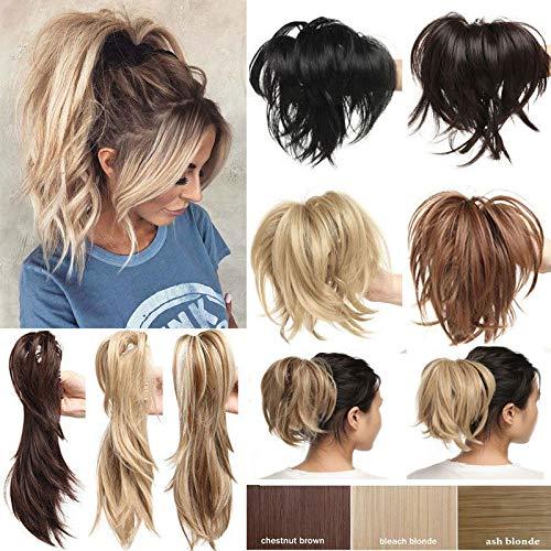 Extension per capelli pieghevoli da 305 coda di cavallo con 3 metalli pieghevoli stile disordinato regolabile e personalizzabile