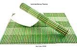 4handgefertigt geschoben Bambus Tischsets, Tisch-Matten, 4Stück, pink-green, CP0005