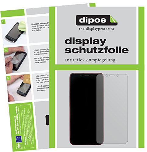 dipos I 2X Schutzfolie matt passend für Xiaomi Mi A2 Folie Bildschirmschutzfolie