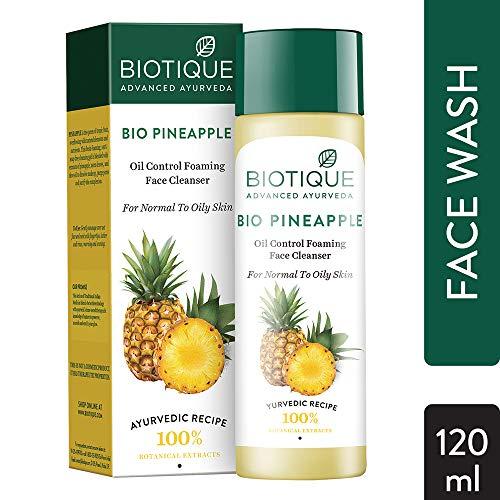 Biotique Ananas Frische Schaum Reinigungsgel für normale bis fettige Haut