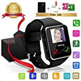 Bluetooth SmartWatch, Waterproof Smart Wrist Watch Telefono con Touchscreen Camera Whatsapp SIM Card , Sport Impermeabile Wear Orologi Intelligente Pedometri Fitness Activity Tracker Braccialetto Compatibile con iphone ios Android Huawei Sony Apple Samsung Smartphone Uomo Donna Kids Bambini