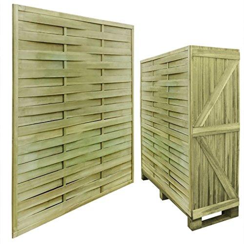 Galleria fotografica vidaXL Set 30 Pannelli recinzione quadrati in legno impregnato 54 m 180 x 180 cm