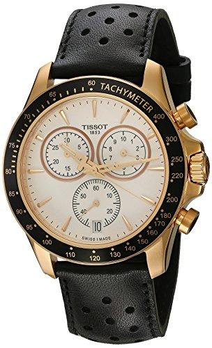 Tissot Herren-Uhren Analog Quarz One Size Leder 86963329
