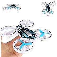 Alta calidad pequeño Mini dron/Drone vistosas iluminación LED (14cm) cuadricóptero 2,4GHz Paquete completo–Incluye Cargador de batería de verde O. Azul
