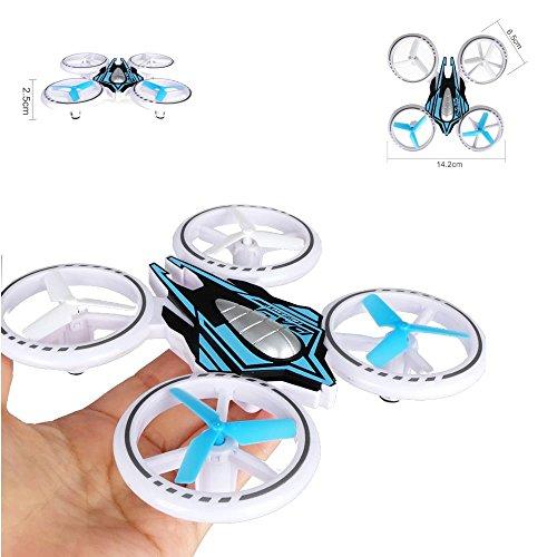Haute Qualité Petite Mini Drone/Drone auffällige Éclairage LED (14cm) quadrirotor 2,4GHz Pack complet–avec batterie chargeur de vert ou bleu