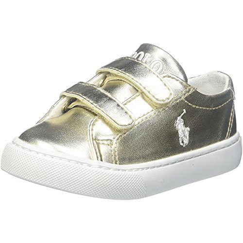 Polo Ralph Lauren Slater Ez C Gold Synthetic Junior Trainers