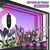 SOLMORE LED Pflanzenlampe Pflanzenlicht mit Timing-Funktion 15W 56 LEDs 3X50cm Grow Licht Pflanzenleuchte Dimmbar mit Fernbedienung Netzstecker für Gemüse Zimmerpflanzen