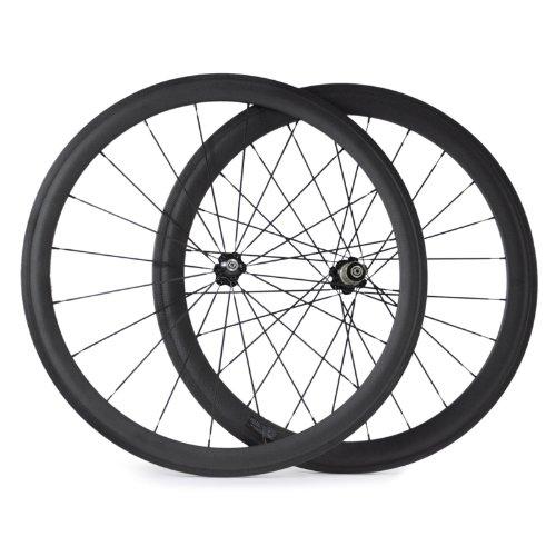 VCYCLE Nopea 700C Rennrad Carbon Laufradsatz Drahtreifen Vorne 38mm Hinten 50mm Basalt Bremsen Oberfläche 23mm Breite Campagnolo 9/10/11 Speed -