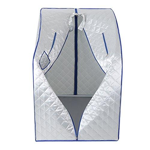 Asixx Dampfsauna, Heimsauna Portables Dampfbad aus Wasserdichtem Baumwollbezug und Kunststoffrahmen,...