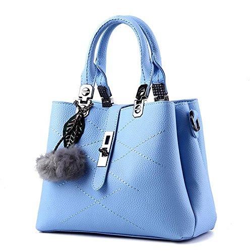 LDMB Damen-handtaschen Trendige klassische süße Lady Schulter Messenger Tasche days blue