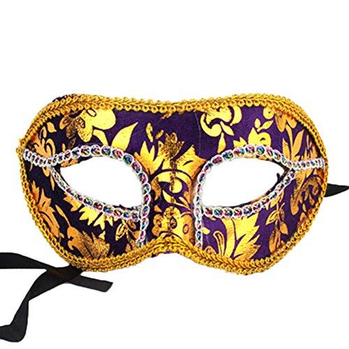 Gespout Halloween Party Männer Spitze Maske Für Kostüm MaskeradeKarneval Weihnachten Party Dekoration 19.5 * 9CM (Style 3)