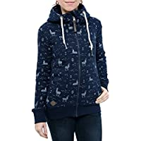 RAGWEAR Damen Jacke Pullover Sweatshirt Sweatjacke Zipper ANGEL ZIP SWEATSHIRT 1721-30032