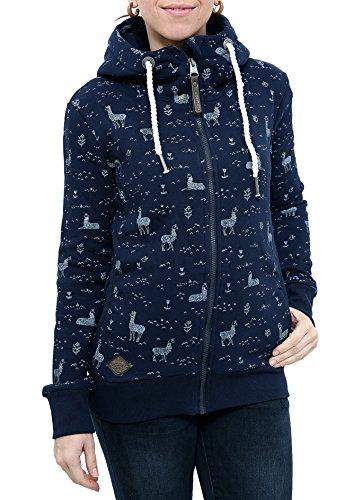 RAGWEAR Damen Jacke, Pullover, Sweatshirt, Sweatjacke, Zipper, ANGEL ZIP, 1721-30032-2028, navy, S