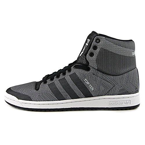 Adidas Top Ten Hi Woven Rund Textile Sportliche Turnschuh Cblack/Grey/Clonix