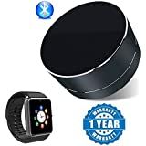 Captcha BO Portable Mini Wireless Bluetooth Speaker With Sd Card Slot With Gt08 Bluetooth Smart Watch With Camera And Sim Card Support Compatible With Xiaomi, Lenovo, Apple, Samsung, Sony, Oppo, Gionee, Vivo Smartphones (One Year Warranty)