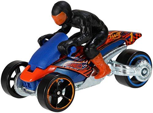 Hot Wheels Mattel X2075 - Motorrad mit Fahrer Sortiment - Wheels-ecto 1 Hot