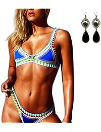 M-Queen Sexy Crochet Swimwear Handmade Tricotés Femmes Maillots de Bain Knit Triangle Swimsuit Bikini Set 2017