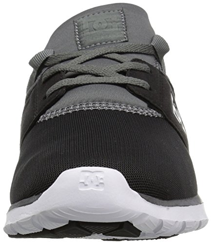 DC Heathrow Skate Shoe, Black/Grey/Green, 14 M US Black/Dk Grey