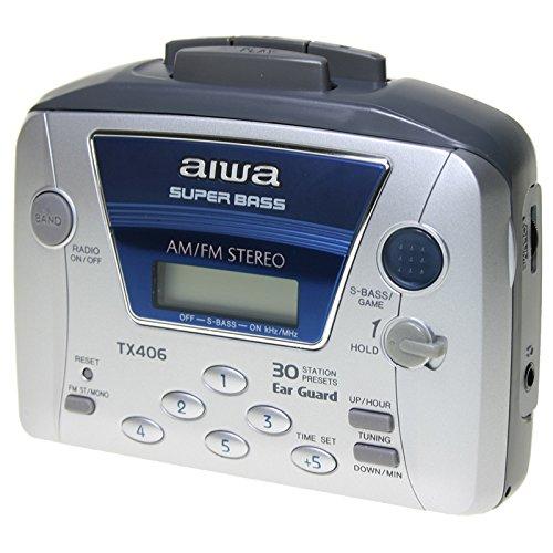 AIWA WALKMAN HSTX-406 Kassetten-Radio mit AM / FM-und 30 MEMORIAS - SUPER BASS Aiwa Stereo Radio