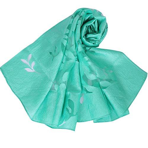CAOQAO Damen Elegante Transparenter Blumenschal Schal Wickel Weicher Weiblicher Schal Sommerschal Übergangsschal Frühling Sommer Ganzjährig