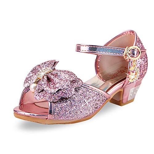 Zapatos de Lentejuelas de Niña Zapatosde Tacón Altode Princesa Zapatos de Fiestade Niños 24 EU/Etiqueta...