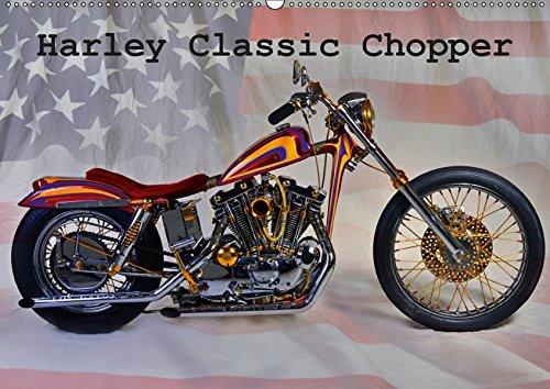 Harley Classic Chopper (Wandkalender 2019 DIN A2 quer): Ein Chopper wie aus dem Bilderbuch.........einfach pur! (Monatskalender, 14 Seiten ) (CALVENDO Mobilitaet) (Wie Chopper)