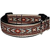 Ledustra Hundehalsband Maya Indianer Leder Klickverschluss