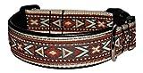 Ledustra Hundehalsband Sioux Indianer Leder Klickverschluss