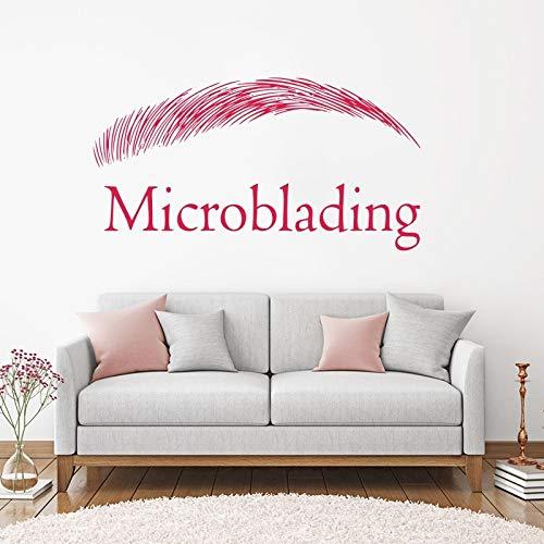 Sopracciglia Design Wall Sticker Brows Microblading Decalcomania della parete del vinile Salone di bellezza Decor Sopracciglio Decorazione della finestra rimovibile 84 * 162 cm