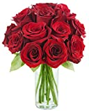 Fresh Flowers Bouquet of 14 Classic Fresh Cut Red Roses from Kabloom